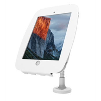 "Picture of iPad 9.7"" Space Enclosure with Flex Arm - White"