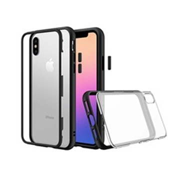 Picture of RHINOSHIELD MOD for iPhone X (with Rim, Button, Frame, Clear Back Plate) - Black
